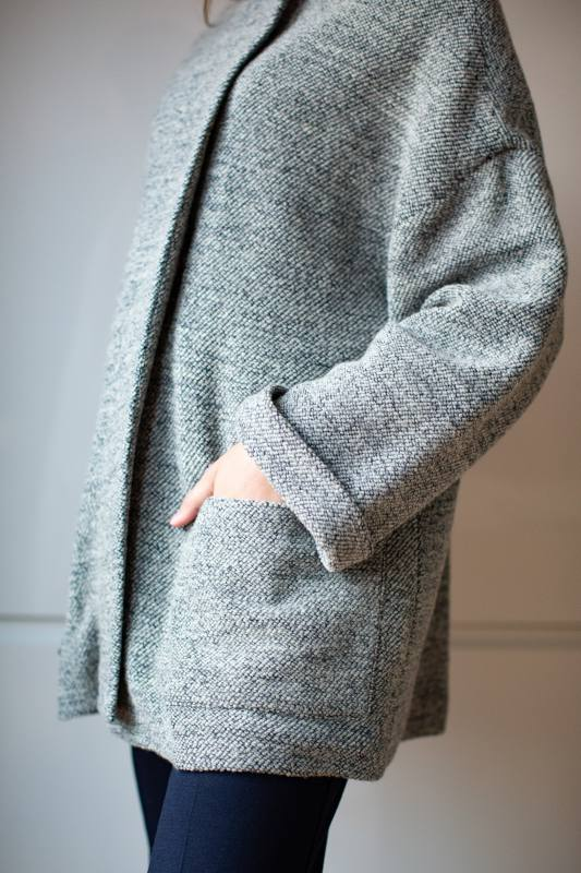 Tweed knit jacket CO-1010