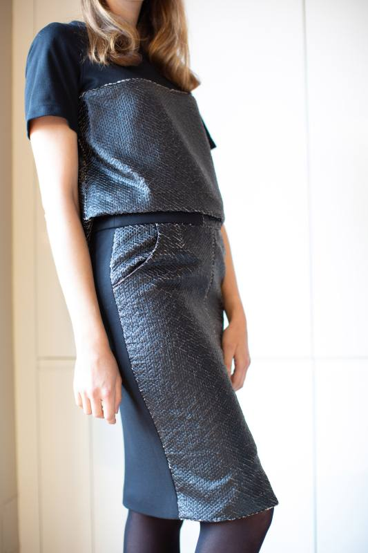 Leatherette skirt CO-1016