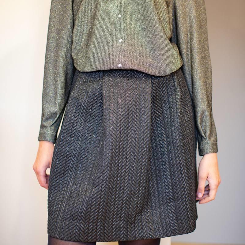 Textured Lurex Skirt CO-1014
