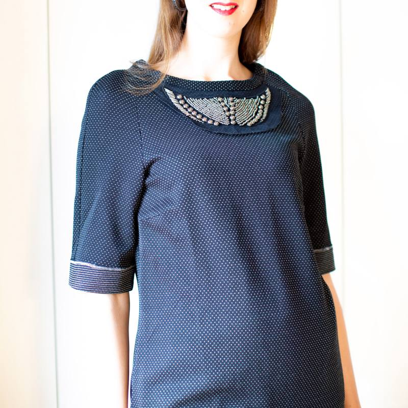 Knit Dress with Studs CO-1003