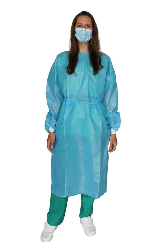 Bata Desechable Quirúrgica e Impermeable Azul D