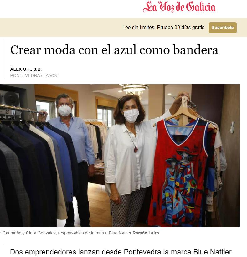 El origen de la marca de moda Blue Nattier, explicado en 'La Voz de Galicia'.