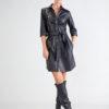 Vestido con Botones Moderno en color Negro 3