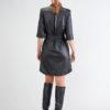 Vestido con Botones Moderno en color Negro 4