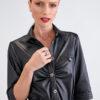 Vestido con Botones Moderno en color Negro 5