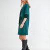 Vestido de Punto Verde y con Perlas 3